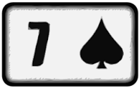 seven of spades playing card