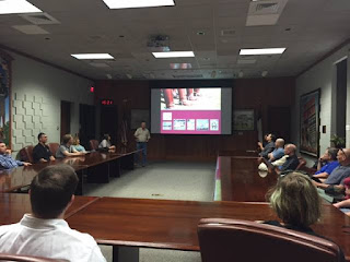 Leadership Subcommittee members learning about the Corps of Cadets; photo credit: Jessica Jackson