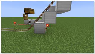 Minecraft トロッコ輸送 積み込み駅 複線 作り方④