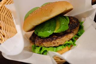 Avocado Burger at Freshness Burger Asakusabashi branch, Taito-ku, Tokyo.