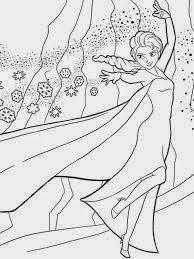 Mewarnai Gambar Elsa Frozen Anak Beautiful Lukisan