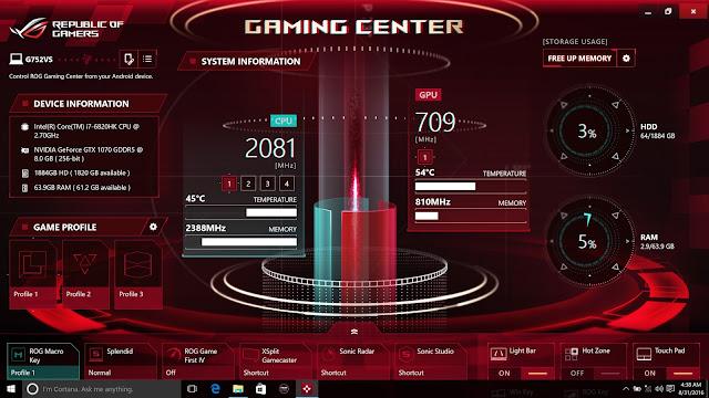 ASUS ROG G752VS Semakin Gahar Dengan Adanya Intel Core i7 6820HK Skylake