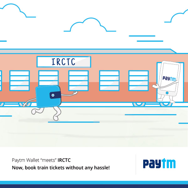 Pay with Paytm on IRCTC and get 100% Cashback on fee