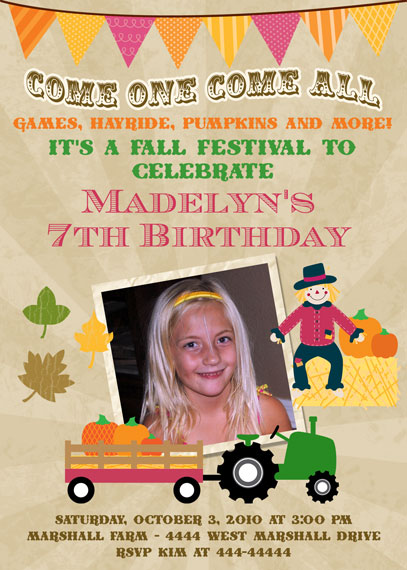 Fall Is Here And Why Not Make Your Special Birthday Even More With A Inspired Invitation Whether It Be An Owl Theme Or Carnival