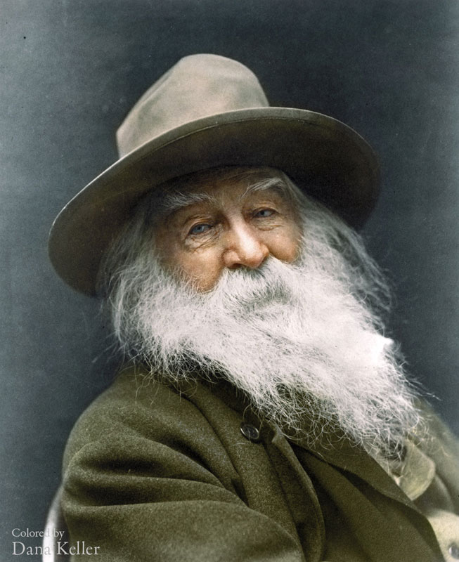 Retrato de Walt Whitman en 1887