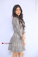 Actress Chandini Chowdary Pos in Short Dress at Howrah Bridge Movie Press Meet  0044.JPG