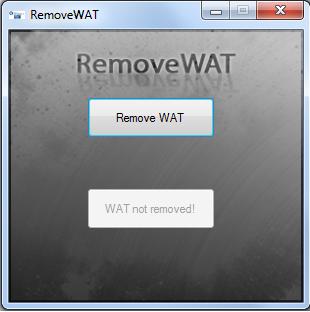 Sửa lỗi Màn hình đen (Window is not Genuine) bằng Remove WAT