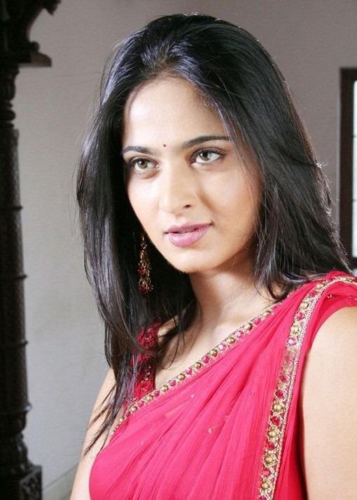 Hot Porn Adult Anushka Hot Navel Show In Pink Saree Stills-5483