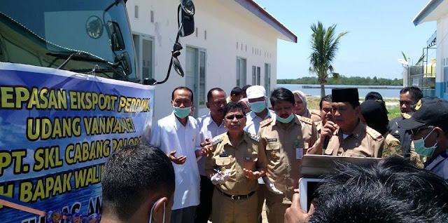 Wali Kota Palopo Lepas Ekspor Perdana Udang Vanname
