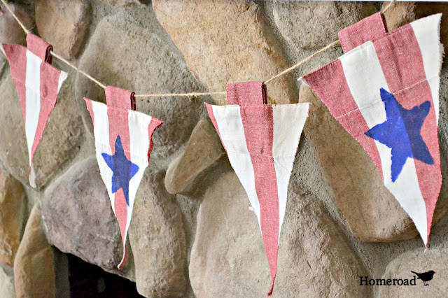 DIY No Sew Patriotic Garland