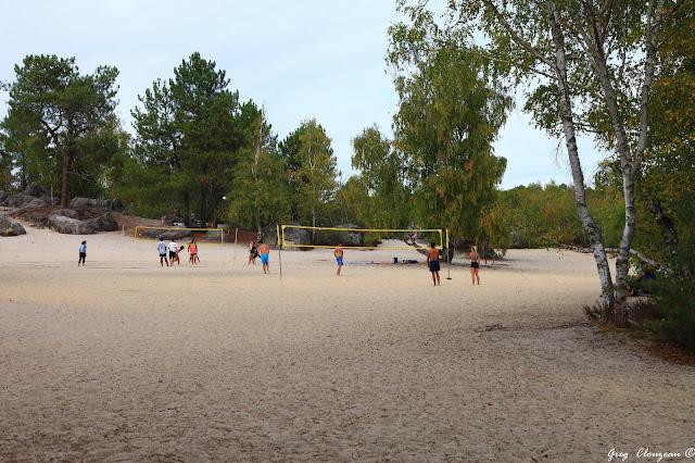 Beach Volley sur les Sables du Cul de chien, Trois Pignons