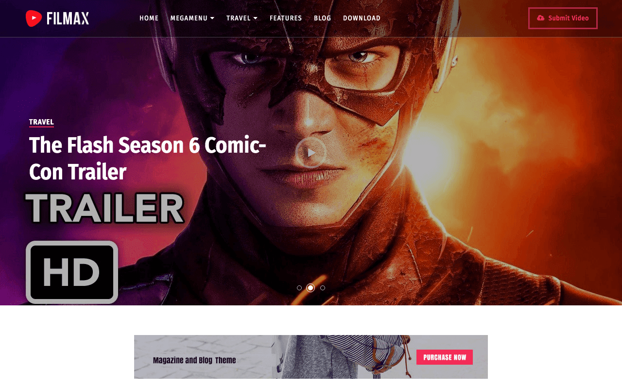 Filmax Movie Blogger Template