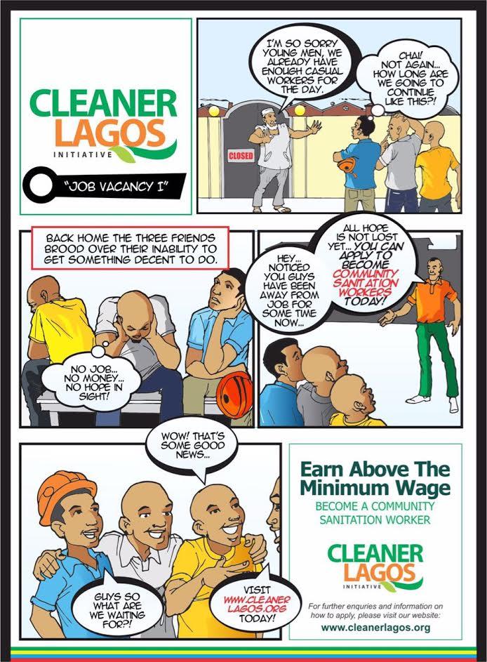 apply now at wwwcleanerlagosorg - Sanitation Worker Job Description
