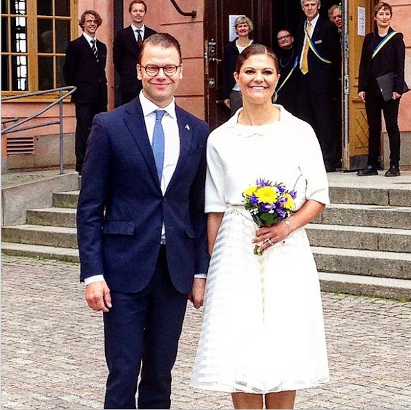 Crown Princess Victoria of Sweden and Crown Prince Daniel of Sweden attended the citizenship ceremony at the Uppsala Castle