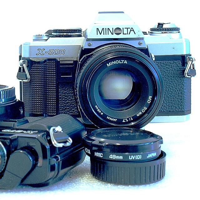 Minolta X-500 35mm SLR Film Camera