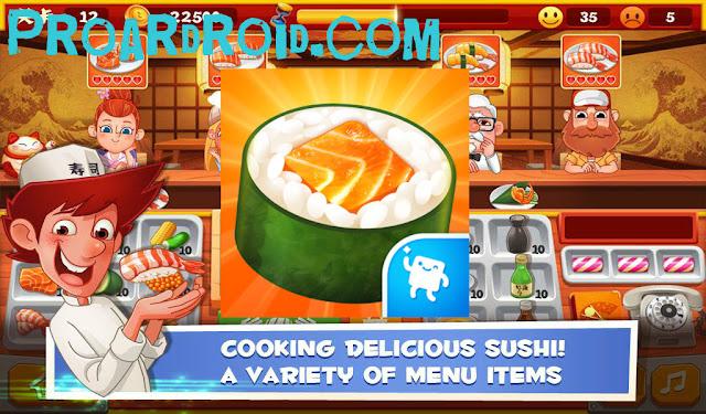 لعبة Sushi Master - Cooking story v3.5.0 مهكرة للاندرويد (اخر اصدار) logo