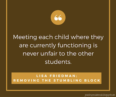Meeting each child where the are; Removing the Stumbling Block