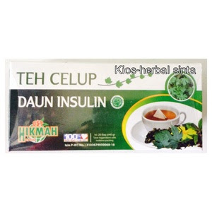 Obat Diabetes Teh daun insulin herbal celup