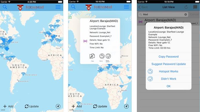 Mappa pw aeroporti