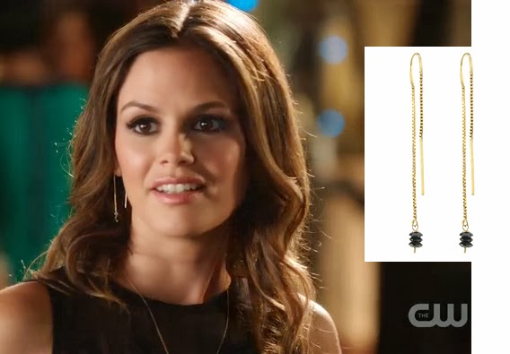 Black Diamond Threader Earrings worn by Rachel Bilson