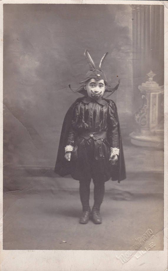 Victorian photo of young boy in fancy dress as a devil. Redbad Standards and Other Stories of Hell. marchmatron.com