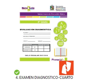 Examen Diagnostico 4to grado primaria