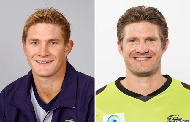 Shane Watson then and now