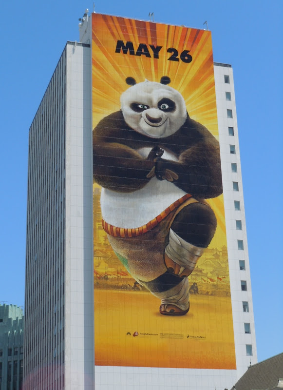 Giant Kung Fu Panda 2 billboard