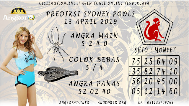 Prediksi Angka Jitu SYDNEY POOLS 13 APRIL 2019