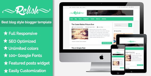 Relish - Responsive Blog Style Blogspot Template