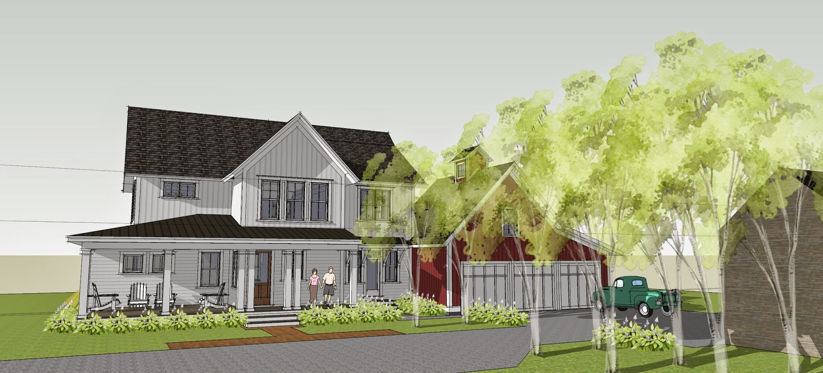 Simply Elegant Home Designs Blog: New Modern Farmhouse by