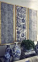 pannelli di stoffa stile orientale fai da te