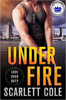 romance novel covers, romantic suspense, Royal Pick, Under Fire by Scarlett Cole