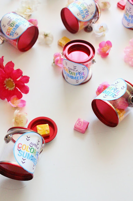 Colorful Kids Paint Can Wedding Favors Free Printable City Of