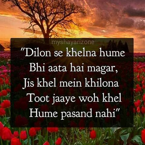 Best Sensitive Dil Ek Khilona Shayari Hindi Lines Whatsapp Status Image