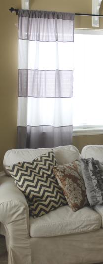 Do It Yourself Divas Diy Striped Curtains