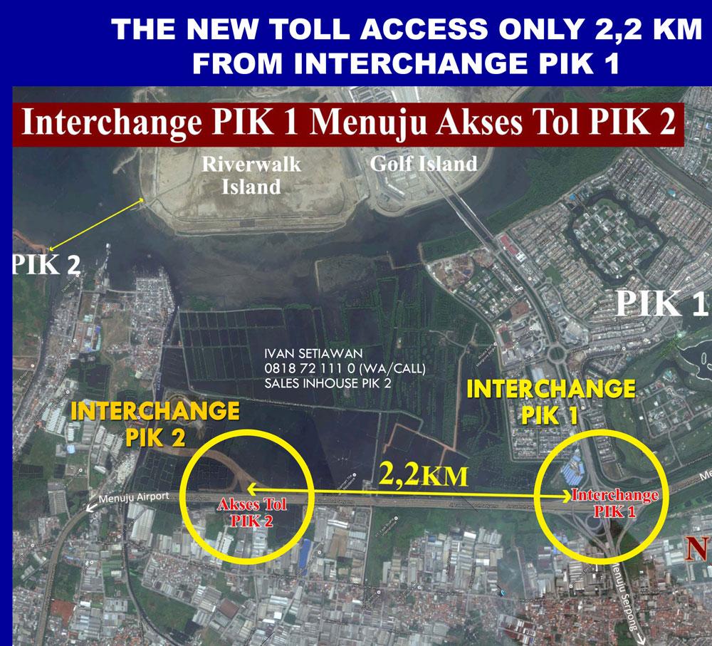 akses toll pik 2 hanya 2km dari gerbang toll pik 1