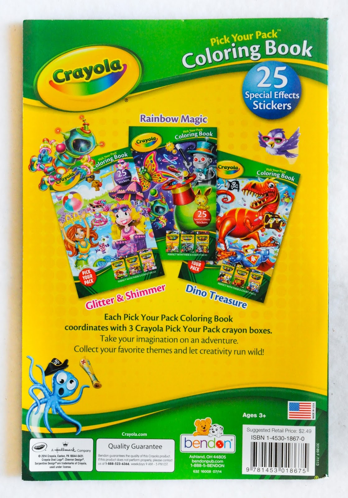 Crayola Pick Your Pack Coloring Books | Jenny\'s Crayon Collection