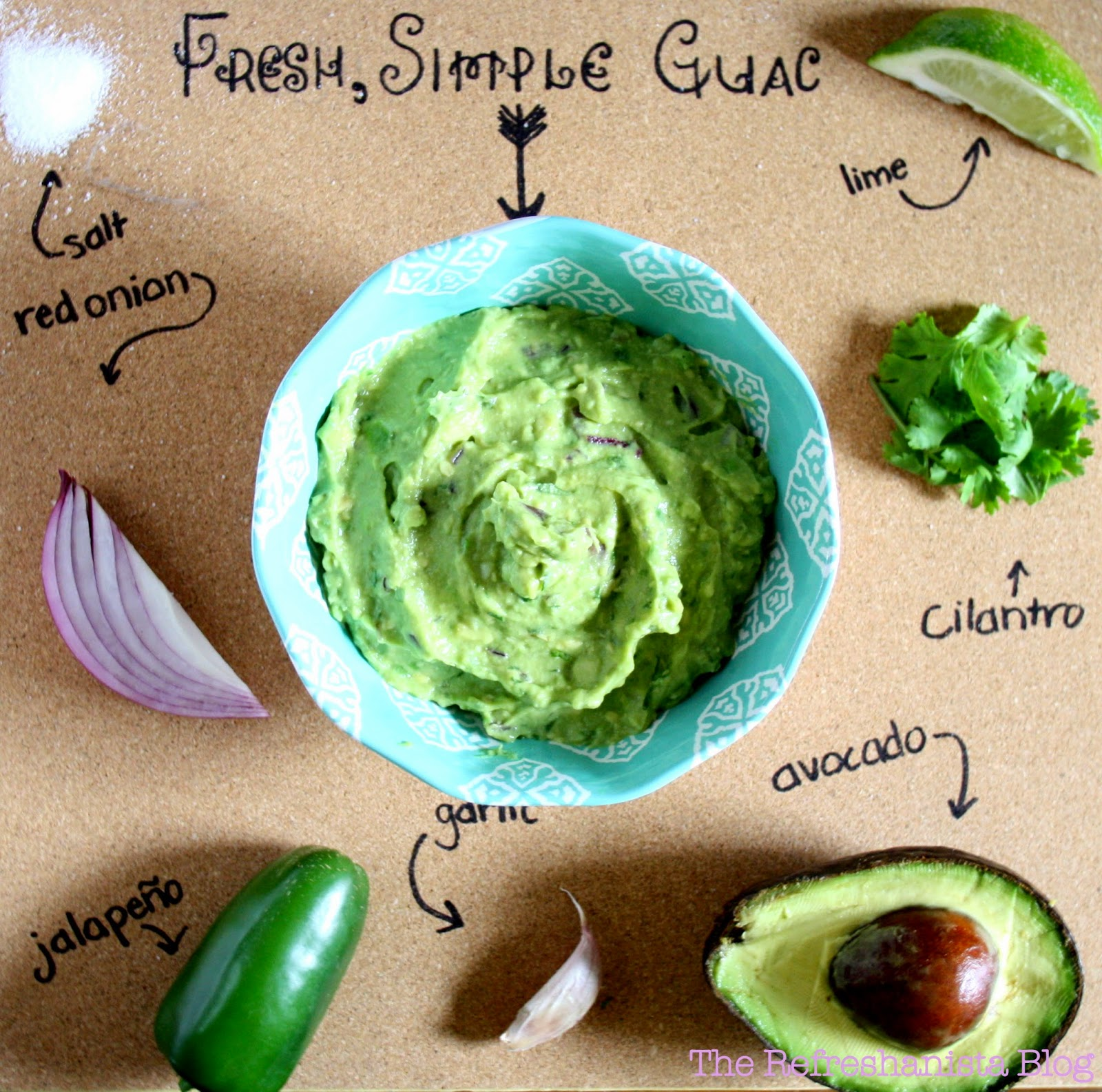 Fresh, Simple Guacamole | The Refreshanista Blog