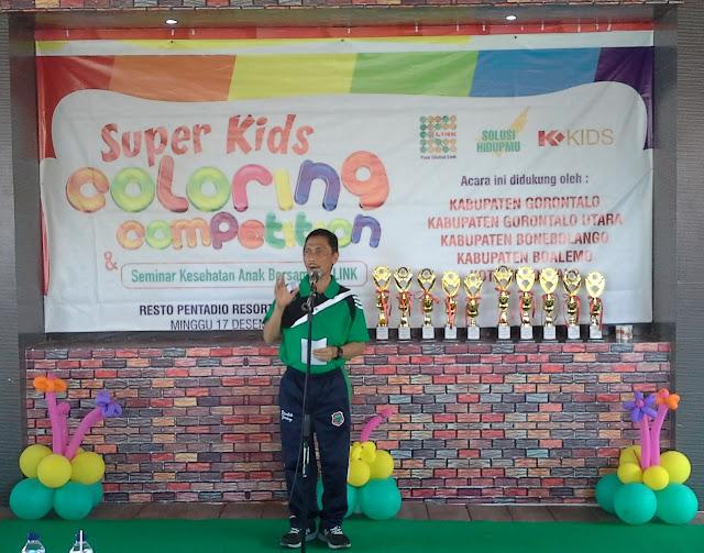 apak Bupati Gorontalo Prof. Dr. Ir. H. Nelson Pomalingo, MPd membuka Seminar Kesehatan Anak dan K-link Coloring Competition