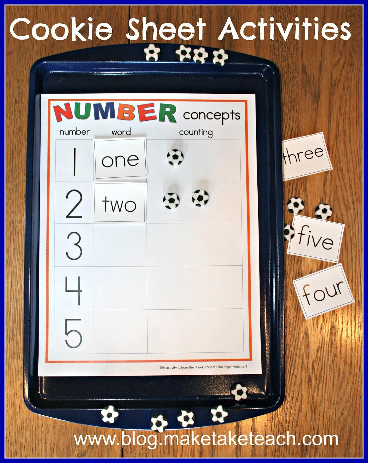 Cookie Sheet Activities Math Concepts