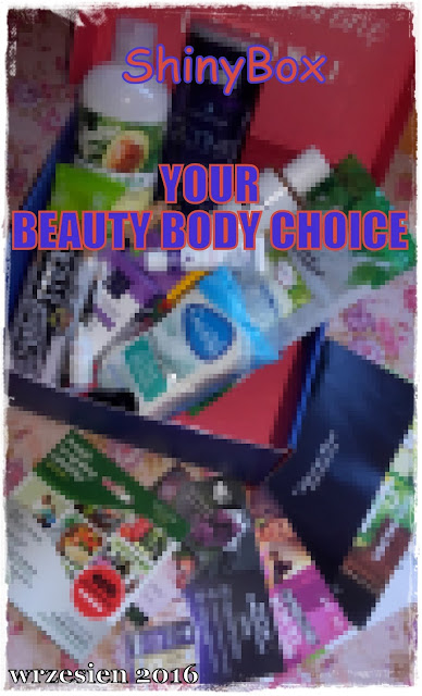 "ShinyBox Wrzesień 2016  "" YOUR BEAUTY BODY CHOICE"""