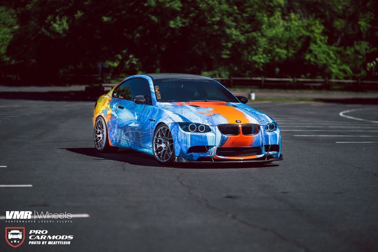 Bmw E92 M3 Combines Water And Fire With Outlandish Wrap Carscoops