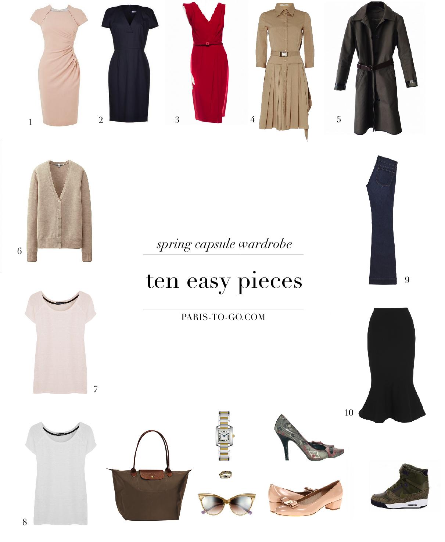 Paris To Go 10 Piece Spring Wardrobe