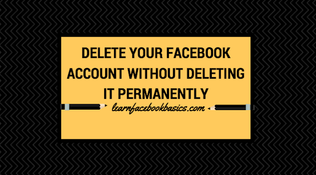 How to Delete Your Facebook Account Without Deleting it Permanently | Delete My FB Account