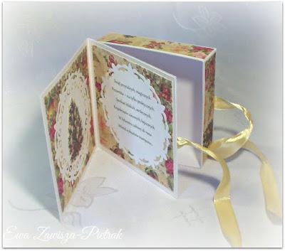 Pudełko kartka na Boże Narodzenie - wnętrze