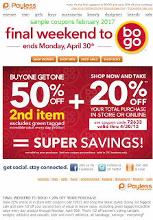 Payless Shoes coupons for february 2017
