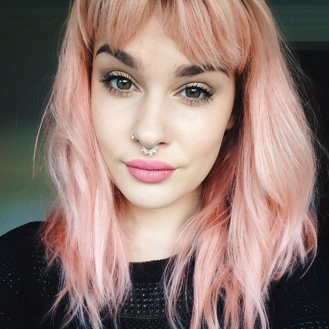 Stunning Peachy Hair Shades The Haircut Web