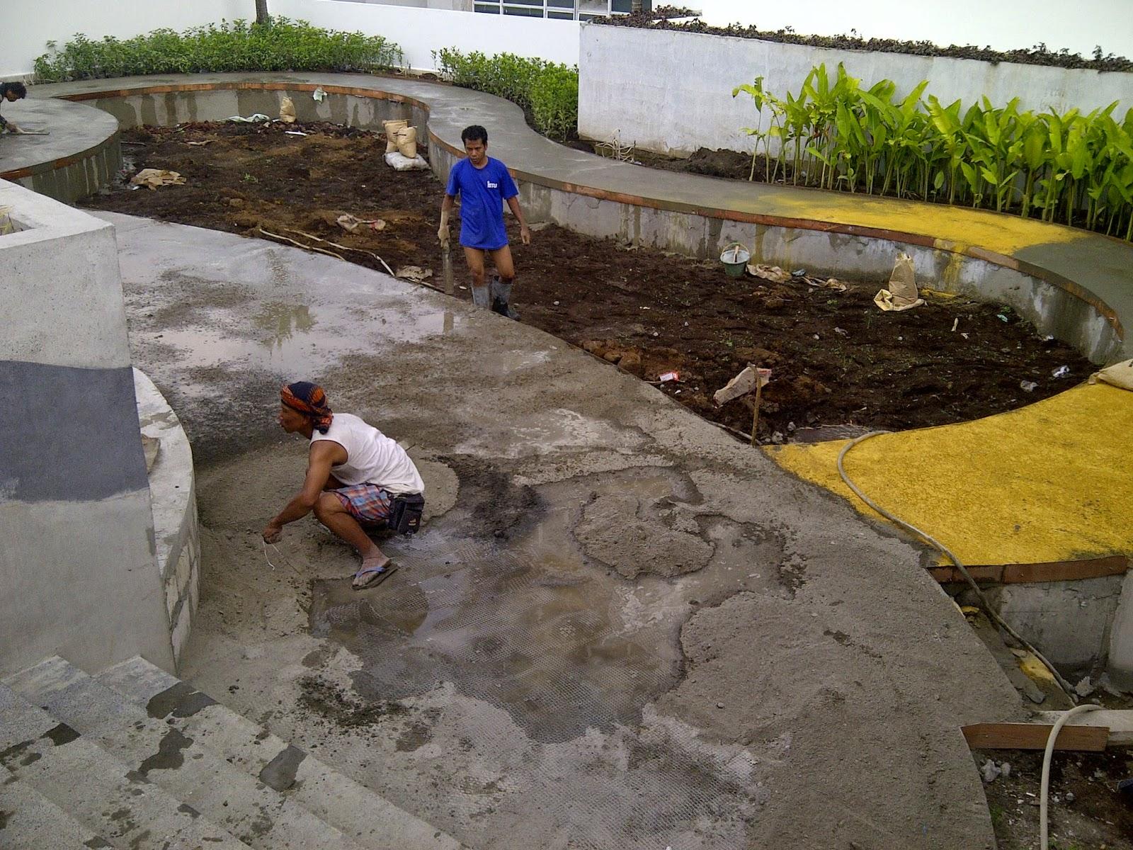 Pengerjaan Pengecoran & Finishing Floor Hardener di Karawaci, Tangerang