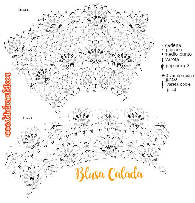 Blusa Calada tejida a crochet / Patrones | Todo crochet